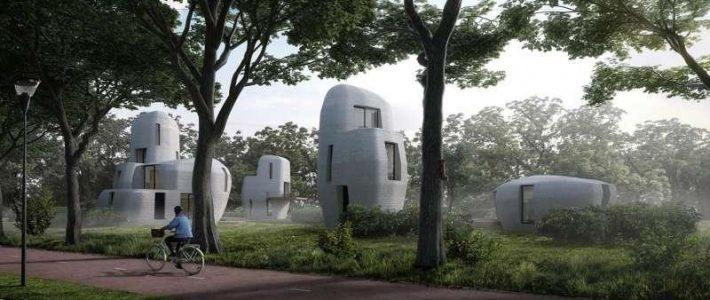Eerste 3D-geprinte woning van beton wordt gebouwd in Eindhoven